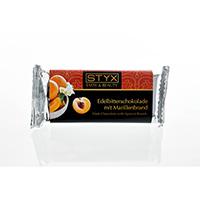 STYX Edelbitterschokolade mit Marillenbrand bio