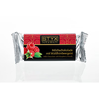 STYX Milchschokolade mit Waldhimbeergeist bio