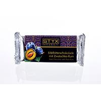 STYX Edelbitterschokolade mit Zwetschke-Rum bio