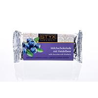 STYX Milchschokolade mit Heidelbeer bio